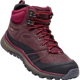 Keen W's Terradora Leather Waterproof Mid Shoes Wine/Rododendron